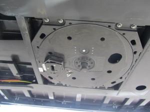 Detalle del mecanismo sobre la 5ª rueda del semirremolque